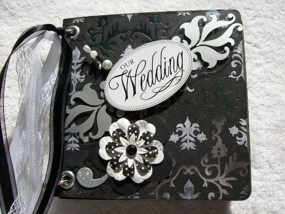 Wedding Mini Scrapbook Chipboard Album w/PREMADE PAGES
