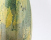 Hand Blown Glass Vase - Woodland Series - Tall Oval Modern Minimalist - Earthy Green Beige - Sale - dreamt ateam oht