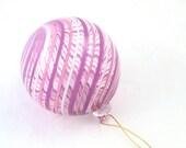 Glass Sun Catcher Window Hanging Ball Ornament - Venetian Style Lavender Purple Pink Striped Glass - luxury decoration
