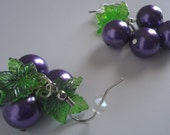Bunches of Grapes Pearl Cluster Earrings SALE