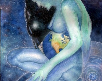 Maternity Art -Mother Earth - Gaia - Goddess Art