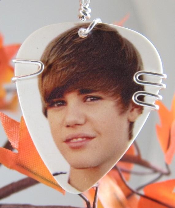 Justin Bieber Guitar Pick Pendant