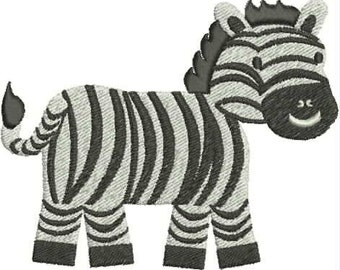 Zebra Embroidery Design, Baby Animal, Cute, Infant, Machine Embroidery Design