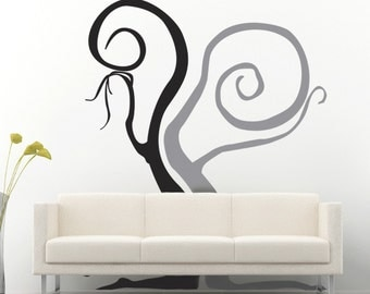 Wall Art Decal vinyl tree decal large multi color - Deep Thought