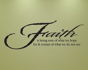 Hebrews 11 Scripture wall lettering made of vinyl.