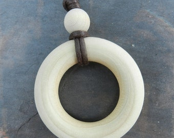 Simple Wood Nursing Teething Necklace