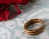 Zebrawood Bent Wood Ring