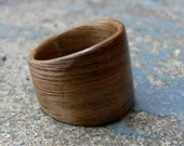 Walnut Tapered Bent Wood Ring