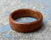 Handmade Bentwood Mahogany Wood Ring