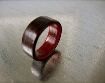 Wood Ring - Bentwood Wenge and Padauk