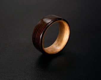 Wood Ring - Bentwood Wenge and Beech
