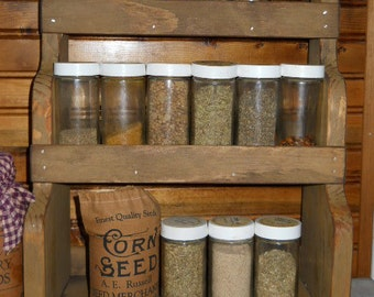 Primitive Farmhouse Spice Rack