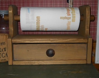 Farmhouse primitive Kitchen Paper Towel holder