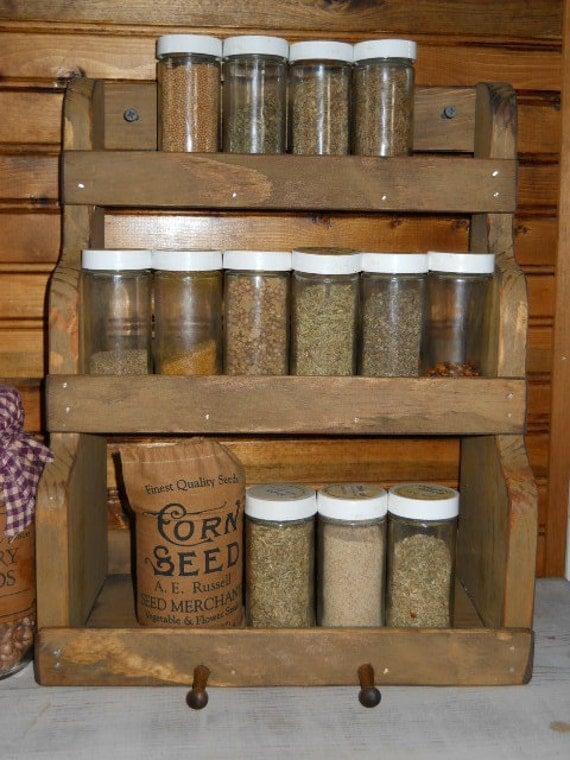 Primitive Farmhouse Spice Rack