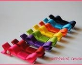 Rainbow Hair clips, Infant hair clips, Toddler hair clips, Clippees, Set of 8 Bright hair clips