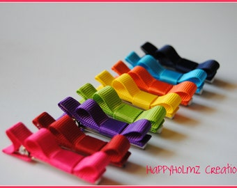Rainbow Hair clips, Infant hair clips, Toddler hair clips, Clippees, Set of 8 Bright hair clips