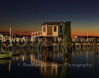 Colorful Winter Sunset in Newport, RI - Photograph