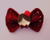 Doctor Who Hair Bow/ BowTie (Color: Red)