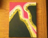 """9""""x6.5"""" Abstract Acrylic Painting on stretched canvas OOAK - Trickle"""
