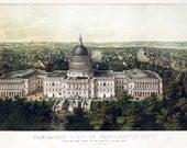 Vintage Map - Washington DC 1857