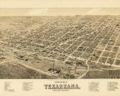 Vintage Map - Texarkana, Arkansas 1888