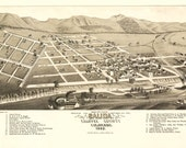 Vintage Map - Salida, Colorado 1882