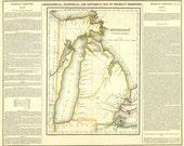 Vintage Map - Michigan Territory 1822