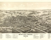 Vintage Map - Bowling Green Ohio - 1888
