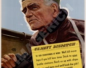 World War II Poster -  Hit Hard - Hit Fast - Hit Often - Admiral W.F. Halsey