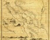 Vintage Map - Nicaragua 1855