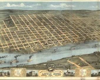 Vintage Map - Little Rock, Arkansas 1871