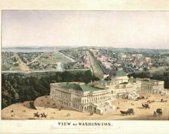 Vintage Map - Washington DC 1852
