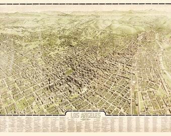 Vintage Map - Los Angeles, California 1909