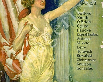 World War 1 Poster - Americans all - Victory Liberty Loan