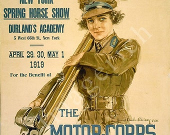 World War 1 Poster - New York Spring horse show, Durland's Academy ...