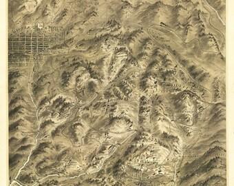 Vintage Map - Cripple Creek, Colorado 1895