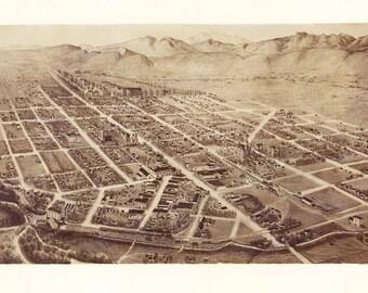 Vintage Map - Fort Collins, Colorado 1899