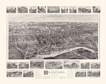 Vintage Map - Branford, Connecticut  1905