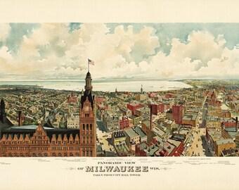 Vintage Map - Milwaukee, Wisconsin 1898