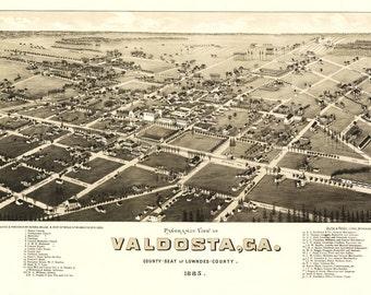 Vintage Map - Valdosta, Georgia 1885