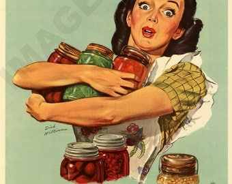 World War II Poster -  Am I Proud - I'm Fighting Famine by Canning Food at Home