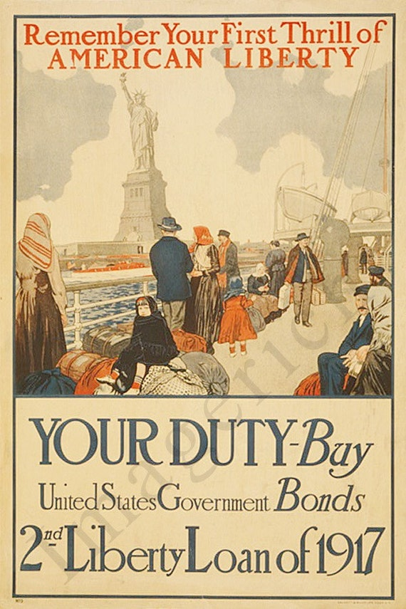 World War 1 Poster - Remember your first thrill of American liberty