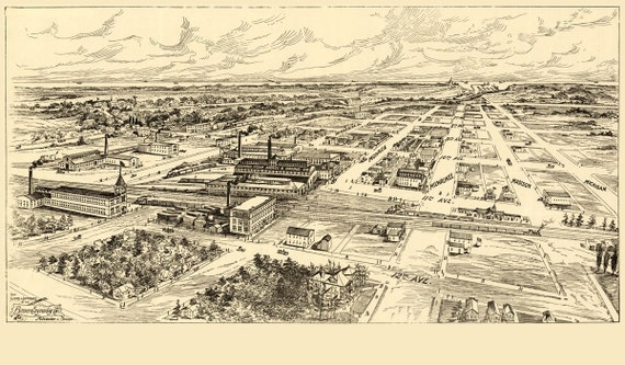 Vintage Map - Milwaukee (South Milwaukee), Wisconsin 1906