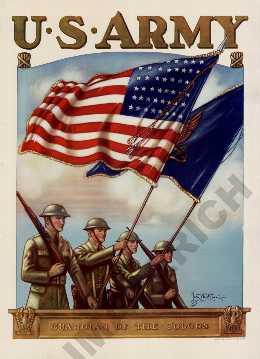 World War II Poster U.S. Army Guardian of the Colors
