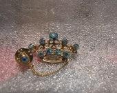 Pin Brooch Aurora Borealis Vintage Tiara Crown