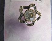 Vintage Headlight Rhinestone Tac Pin