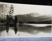 Antique Photo Haynes Sylvan Lake Cody Road Yellowstone National Park