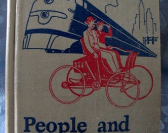 Vintage 1951 School Book People and Progress Basic Reader 6