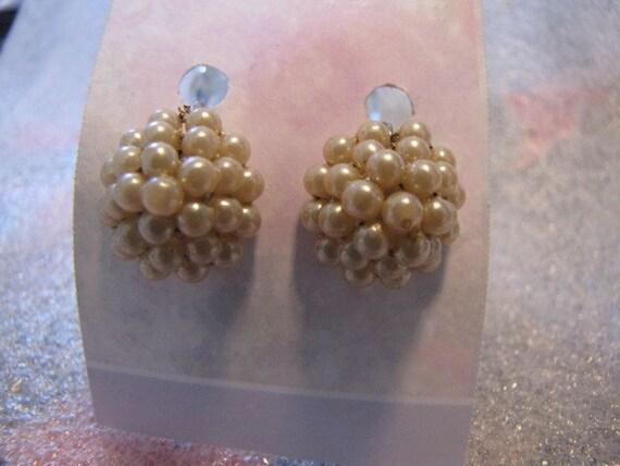 Domed Pearl Earrings