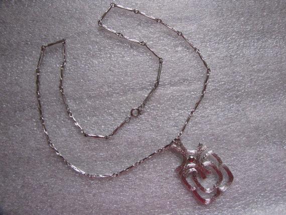 Vintage Avon Celtic Necklace Silvertone Chain Signed Medallion